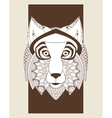 wolf icon Animal and Ornamental predator design vector image vector image