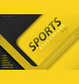 yellow-black background in sport design style vector image vector image