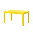 yellow rectangular table isolated vector image