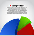 business info graphic diagram background vector image