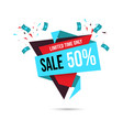 50 percent off sale banner template shopping half vector image