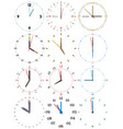 a set of different mechanical clocks vector image vector image
