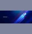 abstract blue background with glowing lines vector image vector image