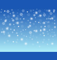 abstract blue winter background with white vector image