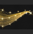 abstract golden wave design element with shine vector image vector image