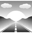 abstract landscape highway with halftone style vector image