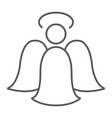 angel thin line icon decoration and christmas vector image vector image
