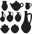 antique silhouette set ware vector image