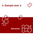 Background with puzzle elements vector image
