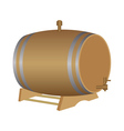 Barrels for wine vector image vector image