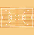 basketball court with parquet wood board vector image vector image