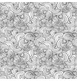 big seamless pattern black and white stylized vector image vector image