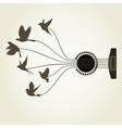 Bird a guitar2 vector image vector image