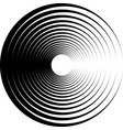 black and white abstract drawing from circles vector image
