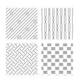 Braid weave diagonal lines seamless textures vector image