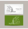 Business card design with cityscape sketch vector image vector image