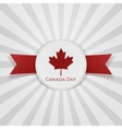 Canada Day greeting red Badge vector image vector image