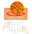 command play basketball vector image