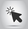 computer mouse cursor icon in flat style arrow vector image vector image