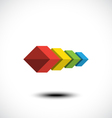 Cubes icon vector image vector image