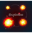 Explosion Design Set vector image vector image