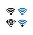 four variants wi-fi logo simple vector image vector image