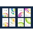 globe brochure template set Abstract arrow vector image