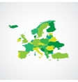 Green Europe Map Background vector image vector image
