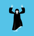 grim reaper yoga death yogi skeleton in black vector image vector image
