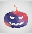 halloween card with pumpkin of triangle vector image vector image