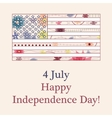 Happy independence day background vector image vector image