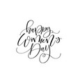 happy women day trendy brush design vector image vector image