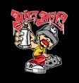 hip hop toon vector image