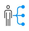 human resource line icon employee skills vector image vector image
