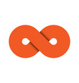 infinity symbol icon representing the concept of vector image vector image