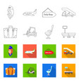 isolated object airport and airplane sign vector image vector image