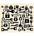 Keys and locks vector image vector image
