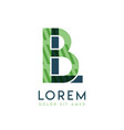 lb colorful logo design with green and dark green vector image vector image