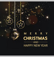 luxury christmas social media golden and black vector image vector image