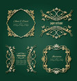 luxury golden frames and labels set vector image