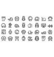 magnetic resonance imaging icons set outline vector image vector image