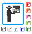 man calendar framed icon vector image vector image