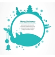 merry christmas christmas greeting card vector image
