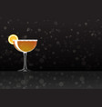 official cocktail icon the unforgettable sidecar vector image vector image