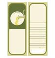 olive oil label vector image vector image