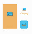 Online shopping company logo app icon and splash