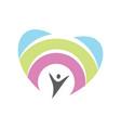 people fun care logo vector image