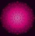 pink and purple vintage round pattern over dark vector image vector image