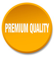 premium quality orange round flat isolated push vector image vector image