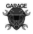 racing helmet logo design vector image vector image